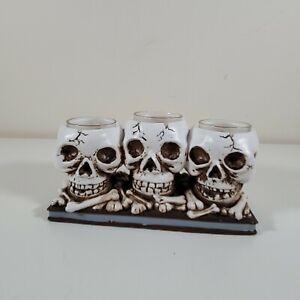 Yankee Candle Creepy 3 Bone Skull Halloween Candle Holder
