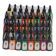 New Pro Tattoo Inks 40 Color 1/2oz Pigment Set For Tattoo Machine Gun Kit