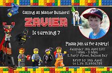 Personalised Lego Movie Batman Birthday Invitations Party Photo The invites