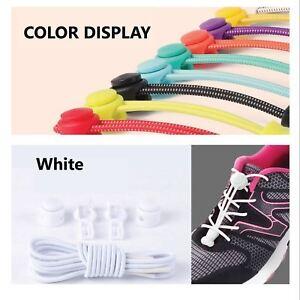 Unisex Adults & Children No Tie Lock Elastic Shoe Laces Shoelace Sports Sneaker