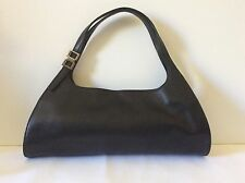 Pre-owned Small GUCCI Black Leather Hand Bag 0014243 Authentic