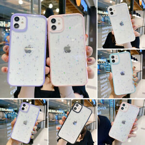 Glitter Case For iPhone 12 11 Pro Max XR X 8 7 Shockproof Bling Star Clear Cover