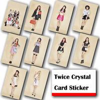 10Pcs / Set Kpop TWICE HD Waterproof Lustre Photo card Crystal Card Sticker