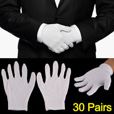 30 Pair White Cotton Purpose Moisturising Lining Beauty Health Work Short Gloves