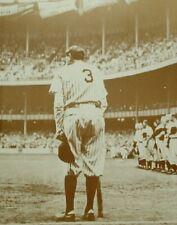 "Babe Ruth Poster Print - 1947 Farewell Photo Yankee Stadium - 11""x14"" Sepia"