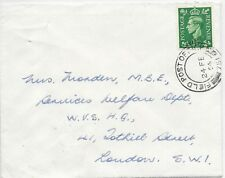 GB F.P.O.751 COVER 24/2/1954 SG505 TO W.V.S.HQ. LONDON.