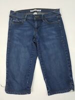 Old Navy Womens Jeans Size 2 Capris Low Rise Stretch Medium Wash Denim