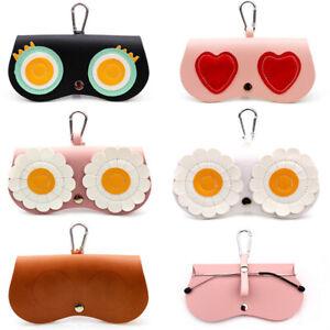 Sunglasses Box Soft Package Folding Mirror Bag Pendant Cute Glasses Case Sto FJ
