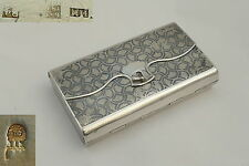 RARE RUSSIAN HM 84 GRADE SILVER NIELLO SPRUNG PURSE or BOX 1867