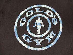 Gold's Gym Sollevamento Pesi Logo - Nero T-shirt M F495