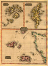 Reproduction Antique Map Channel Islands Guernsey Jersey Scilly Shetland Isles