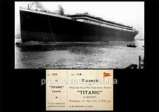 RMS TITANIC WHITE STAR LINE WITHOUT FUNNELS AFTER BELFAST LAUNCH EXCLUSIVE PRINT