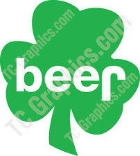 Jeep beer Shamrock Decal - Green Vinyl 3