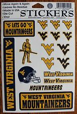 18 West Virginia Mountaineers Decals Stickers WV NCAA