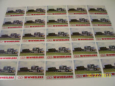 Lot of 25-1989 Western Star Semi Truck 18 Wheelers Trading Cards (READ AD)