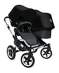 Bugaboo Donkey Mono Black Standard Double Seat Stroller