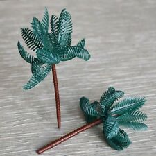 Set of 8 Large Palm Tree Cupcake Cake Toppers Tropical Beach Party Decoration