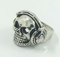 Vintage  Men's Woman 316L Stainless Steel Vogue Design Mini Skull Ring Size 9