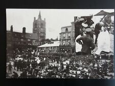 WW1 NORWICH MARKET PLACE 100's of Soldiers Gathered + Haircuts insert c1914 RP