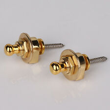 4pcs Schaller-Style Strap Lock For Electric Acoustic Guitar Bass Golden