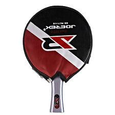 Joerex Table Tennis Paddle Ping Pong Racket Bat Long Handle Blade With Cover Bag