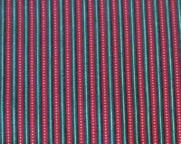 2.5 Yds Red Green Gold Stripe Christmas Holiday Cotton Fabric Quilting Treasures