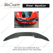 Dry Carbon Rear Spoiler Kit For 15-19 Ferrari F488 GTB VRS-Style Decklid Wing