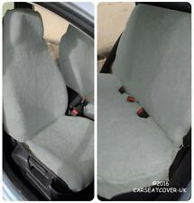 Renault Scenic  - GREY SHEEPSKIN Faux Fur Furry Car Seat Covers - Full Set