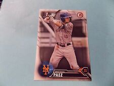 2016 Bowman Draft #BD115 Michael Paez Rookie Card New York Mets St. Lucie Mets