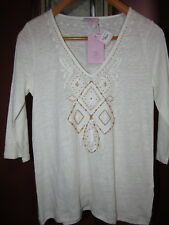 NEW Calypso St. Barth Hammon Tee Top Blouse S NWT