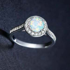 Natural Certified 5Ct Fire Opal 925 Sterling Silver Wedding Ring Gift For Her