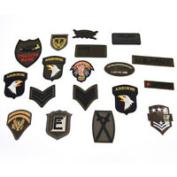 Military Motif Embroidered Patches for Clothing Sew Iron on Clothes AppliquEPJU