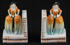 Vintage Ceramic Book Ends From Japan Lovely Ladies Collectibles Decorative