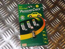 NEW CHROME PRESSURE CHECK VALVE CAPS 3 BAR /44 46 PSI CAR / MOTORCYCLE