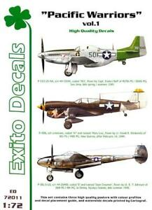 Exito Decals 1/72 PACIFIC WARRIORS Vol.1 P-51 P-40 & P-38