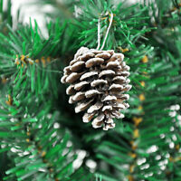 Wholesale Natural 1 Pack of 9 Pine Cones Baubles Xmas Tree Decorations X SG