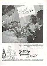 ▬► PUBLICITE ADVERTISING AD Eau Gazeuse PERRIER 1937