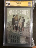 THE MAGIC ORDER #1 CGC SS 9.8 SIGNED BY Oliver Copiel - NETFLIX Mark Miller