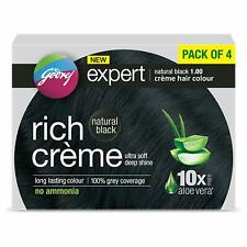 Lot of 10X Godrej Expert Rich Crème Hair Colour Shade 1 NATURAL BLACK Fast ship
