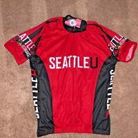 XL Seattle University SU Redhawk Cycling Race Bike Jersey Top Shirt Adrenaline