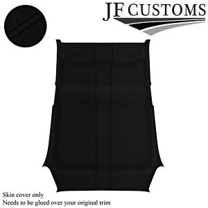 BLACK STITCH SUEDE ROOF HEADLINER COVER FOR RENAULT CLIO MK3 05-09 5DR