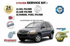 FOR KIA SPORTAGE 2.0 DT CRDi 2005-2010 NEW OIL AIR FUEL FILTER (3) SERVICE KIT