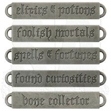 Quote Pendants Word Pendants Connector Pendants Antiqued Silver Halloween Gothic
