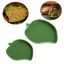 1PC Plastic  Gecko Worm Feeder Leaf Shape Reptile Water ABS Plastic Food Dish