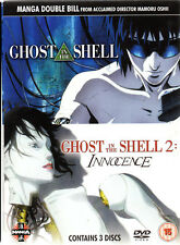 Ghost In The Shell Movie Double Bill (DVD, 2006, 3-Disc Set) reg.2 -new / sealed
