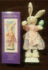 Vtg GEMMY Easter Rabbit Painting Egg Animated Bunny Sounds Music Figure Doll HTF