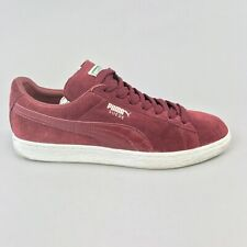 Puma Suede Classic Oxblood Maroon Leather Low Top Lace Up Sneakers Trainers UK9