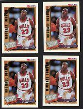 Lot of (4) Cards 1992-93 NBA Hoops Michael Jordan Supreme Court Fan's Choice #SC