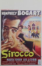 """SIROCCO"" Affiche belge entoilée (C. BERNHARDT / Humphrey BOGART, Maria TOREN)"