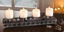 Kerzenhalter Sternenregen, Teelichthalter, Adventsgesteck, Windlicht